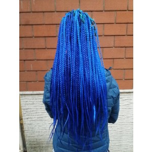 TRECCINE SOTTILI - MIX ELECTRIC BLUE, ROYAL BLUE